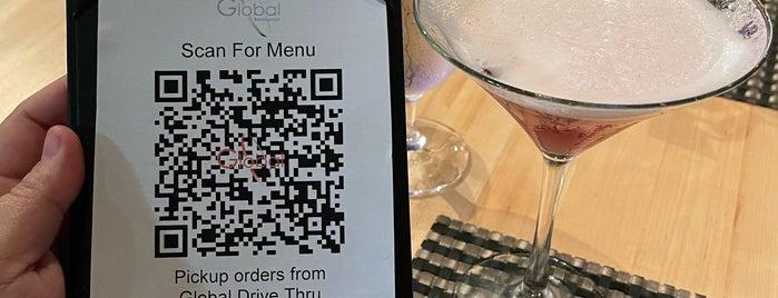 Global Restaurant is one of Top 10 restaurants for grown people night.