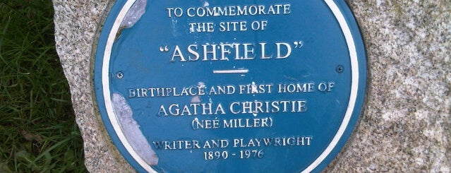 """Ashfield"" Birthplace and first home of Agatha Christie is one of Posti salvati di Sevgi."