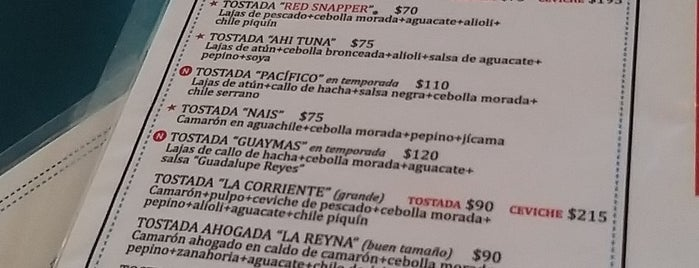 La Corriente CEVICHERIA NAIS is one of Manola approved.