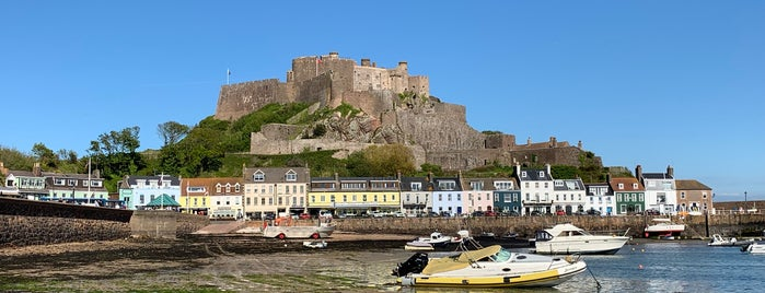 Mont Orgueil Castle (Gorey Castle) is one of Jersey.