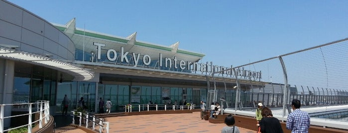 Aeropuerto Internacional de Tokio (Haneda) (HND) is one of Lugares favoritos de Hideo.