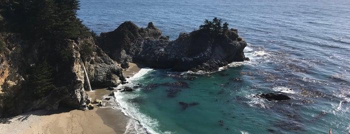 Mc Way Falls Viewpoint is one of HWY1: Santa Cruz to Monterey/Carmel.