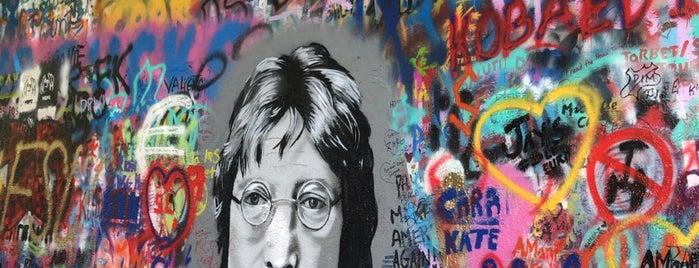 Lennonova zeď is one of Locais curtidos por Op Dr.