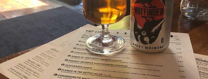 Wayfinder Beer is one of Portland.