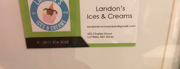 Landon's Ices And Creams is one of Ánela Malik recommends 👩🏾🦱.