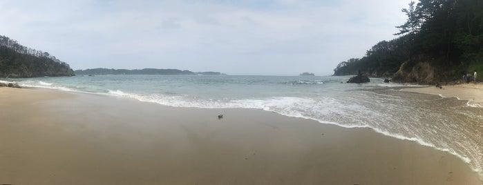 十八鳴浜 is one of 日本の渚百選.