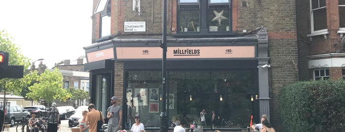 Millfields Coffee is one of Tempat yang Disimpan Fraser.