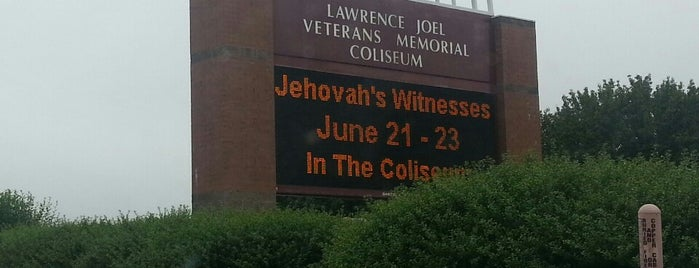 Lawrence Joel Veterans Memorial Coliseum is one of places to go to.