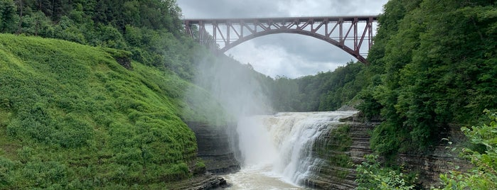 Letchworth Upper Falls is one of Finger Lakes NY.
