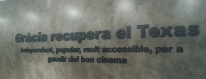 Cinemes Texas is one of Barcelona to-do list.