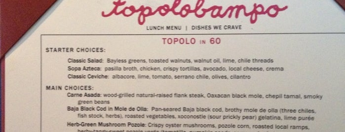 Topolobampo is one of Chicago.