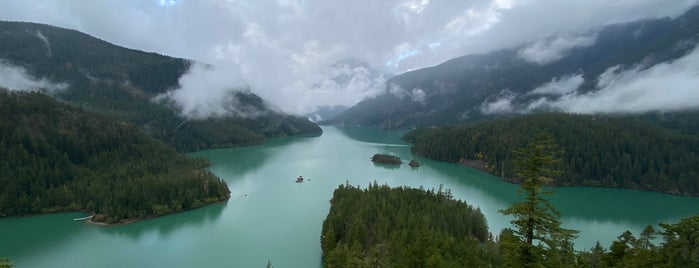 Diablo Lake Outlook is one of Parks, Hikes, and Scenic Views.