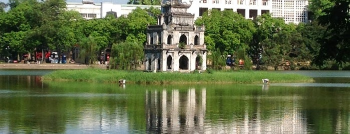 Turtle Tower (Tháp Rùa) is one of Hanoi.