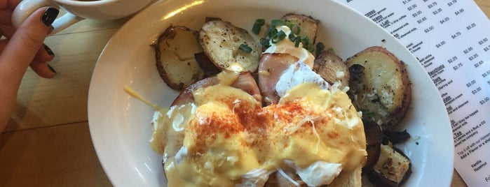 Jelly Cafe is one of America's 50 Best Eggs Benedict Dishes.