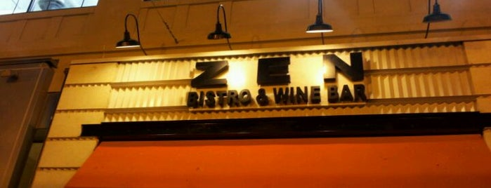 Zen Bistro & Wine Bar is one of Posti che sono piaciuti a Sunjay.