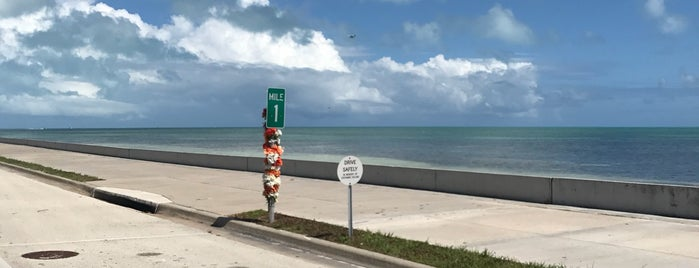 mile marker 1 is one of Key West.