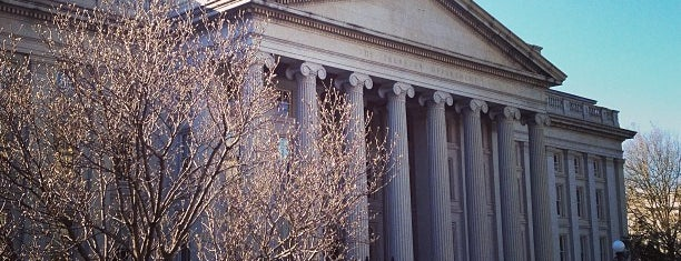 US Department of the Treasury is one of Washington DC.