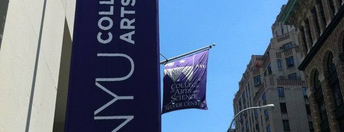 NYU Silver Center for Arts and Science is one of NYU.
