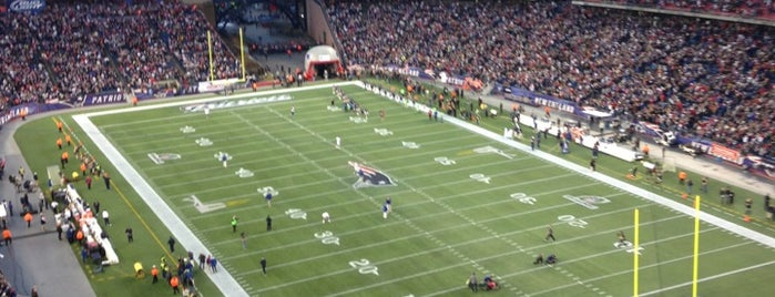 Gillette Stadium is one of Boston, MA.