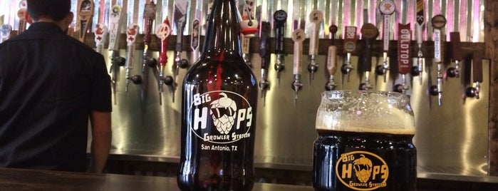 Big Hops Growler Station is one of Lugares guardados de ESTHER.