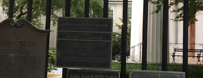 Kahal Kadosh Beth Elohim Synagogue is one of Charleston.