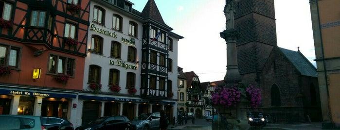 Hotel la Diligence is one of Obernai.
