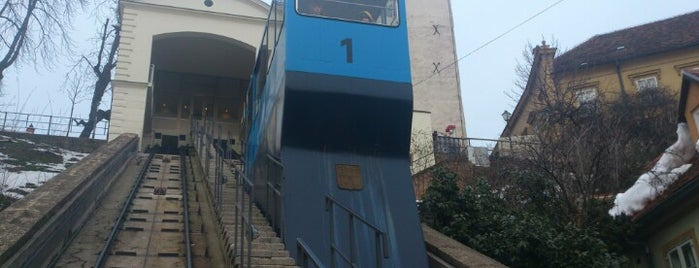 Uspinjača / Funicular is one of Zagreb.