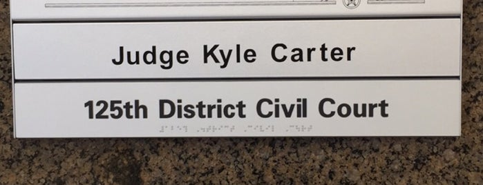 125th District Court: Judge Kyle Carter is one of Governmental Services: Texas.
