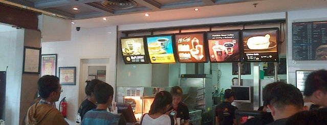 McDonald's / McCafé is one of My Places :).