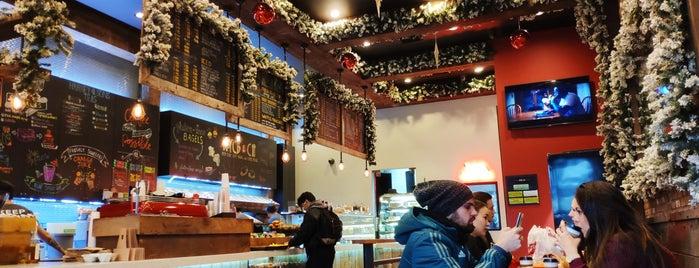 New York City Bagel & Coffee House is one of สถานที่ที่ Laura ถูกใจ.
