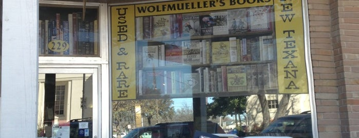 Wolfmueller's Books is one of Kerrville.