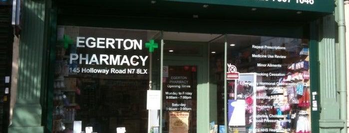 Egerton Pharmacy is one of Islington.