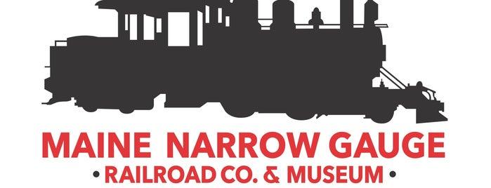 Maine Narrow Gauge Railroad Company & Museum is one of Carmen'in Beğendiği Mekanlar.