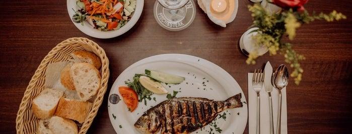 Delphin Fisch & Steak is one of สถานที่ที่บันทึกไว้ของ Tillmann.