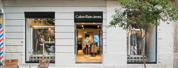 Calvin Klein Jeans is one of Tiendas de moda en Madrid.