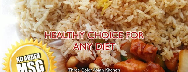 Three Colors Asian Kitchen is one of Reg places.