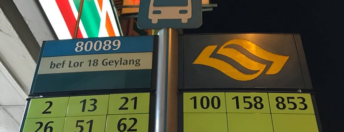 Bus Stop 80089 (Before Geylang Lor 18) is one of J's Liked Places.