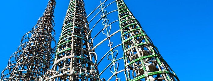 Watts Towers of Simon Rodia State Historic Park is one of 9 Groovy L.A. Landmarks You Need to Know.