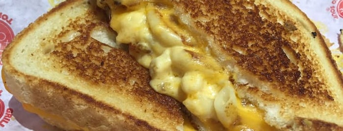 Tom+Chee is one of The Best Macaroni and Cheese in Every U.S. State.
