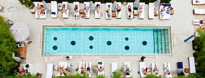 Pool at the Dream Downtown is one of 92 Days of Summer in NYC.