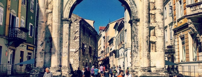 Slavoluk Sergijevaca | Zlatna vrata (Arch of the Sergii) is one of Istria, Croatia.