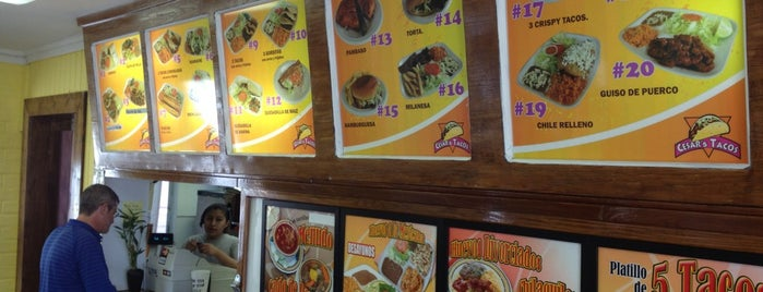 Cesar's Tacos is one of Russ's Liked Places.