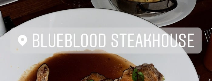 Blueblood Steakhouse is one of Amanda's Saved Places.
