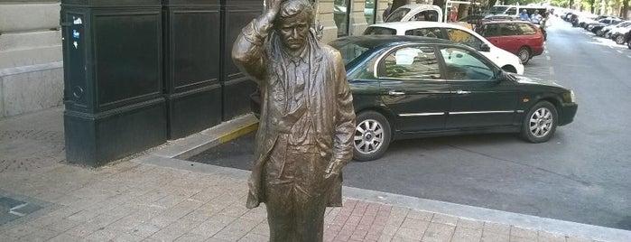 Columbo-szobor is one of Budapest.