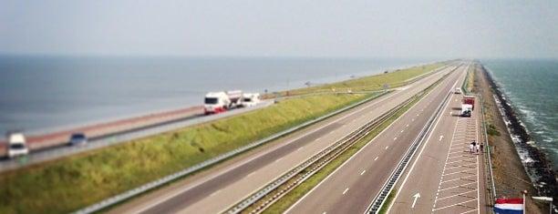 Afsluitdijk is one of Friesland & Overijssel.
