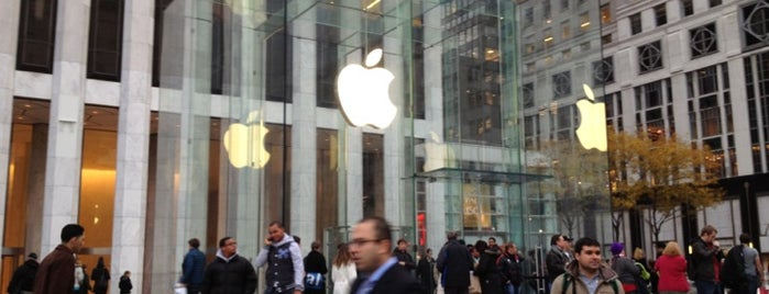 Apple Fifth Avenue is one of NYC.