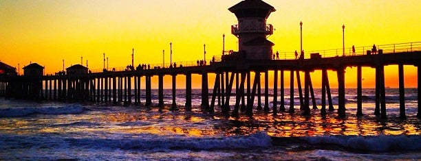 Huntington Beach Pier is one of LA.