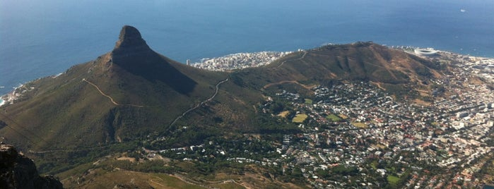 Top of Table Mountain is one of South Africa.