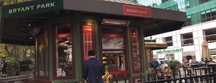 Breads Bakery - Bryant Park Kiosk is one of New York.