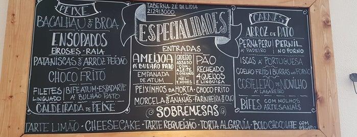 A Taberna Do Zé Da Lídia is one of Tempat yang Disukai Estela.